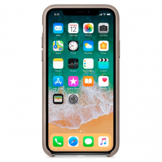 "Кожаный чехол Apple для iPhone X, «платиново-серый"", фото 2"