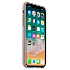 "Кожаный чехол Apple для iPhone X, «платиново-серый"", фото 3"