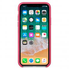 Кожаный чехол Apple для iPhone X, «розовая фуксия», фото 2