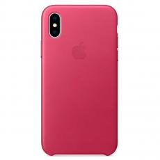 Кожаный чехол Apple для iPhone X, «розовая фуксия», фото 1