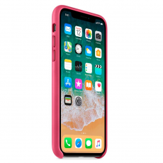 Кожаный чехол Apple для iPhone X, «розовая фуксия», фото 3