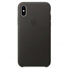 """Кожаный чехол Apple для iPhone X, """"угольно-серый"""", фото 1"""