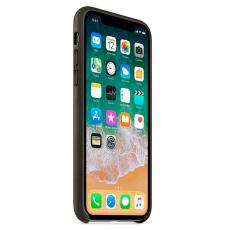 """Кожаный чехол Apple для iPhone X, """"угольно-серый"""", фото 3"""