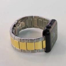 Ремешок для Apple Watch 42mm, сталь, золотой / серебристый, фото 2