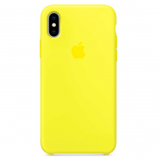 Чехол Apple силиконовый для iPhone X, «желтый неон», фото 1