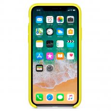 Чехол Apple силиконовый для iPhone X, «желтый неон», фото 2