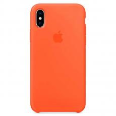 Чехол Apple силиконовый для iPhone X, «оранжевый шафран», фото 1