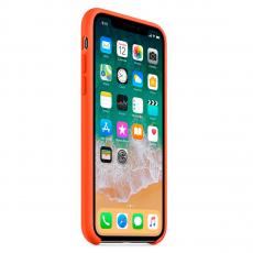 Чехол Apple силиконовый для iPhone X, «оранжевый шафран», фото 3
