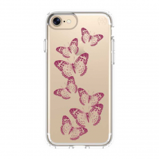 "Чехол Speck ""Almond"" Presidio Clear + Print для iPhone 7 и 8, золотой-фото"