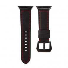 Ремешок кожаный Uniq Kronos для Apple Watch 42mm, черный, фото 1
