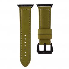 Ремешок кожаный Uniq Kronos для Apple Watch 42mm, зеленый, фото 1