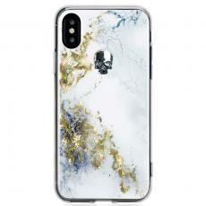 Чехол Bling My Thing для iPhone X, с кристаллами Swarovski, Tresure Alabaster, Night Skull, ipx-tr-wh-svn, фото 1