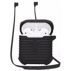 Чехол и гарнитура силиконовые COTEetCI для AirPods CS8108-BK Suit, черный, CS8108-BK, фото 1