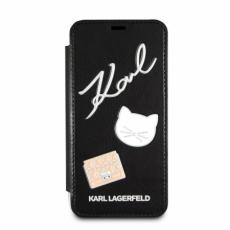 Чехол-книжка Lagerfeld для iPhone X,  Embossed Pins, черный, KLFLBKPXPPIN, фото 1