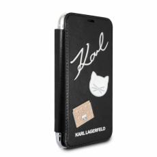 Чехол-книжка Lagerfeld для iPhone X,  Embossed Pins, черный, KLFLBKPXPPIN, фото 2