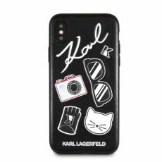 Чехол Lagerfeld для iPhone X,  Embossed Pins, черный, KLHCPXPIN, фото 1