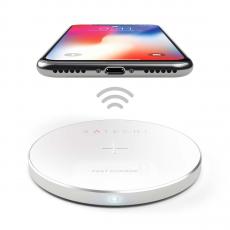 Беспроводное зарядное устройство Satechi Wireless Charging Pad (серебристый), фото 4