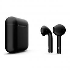 Беспроводные наушники Apple AirPods Color, черные матовые, фото 3