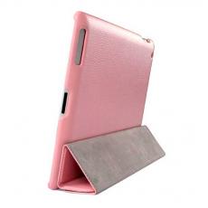 Кожаный чехол для Apple iPad 3 Jison Smart, розовый, фото 3
