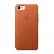 Кожаный чехол Apple Leather Case для iPhone 8/7, золотисто-коричневый, фото 1
