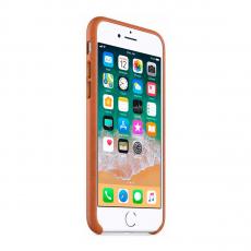 Кожаный чехол Apple Leather Case для iPhone 8/7, золотисто-коричневый, фото 2