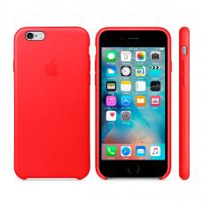 Кожаный чехол Apple Leather Case для iPhone 6/6s, красный, фото 3