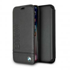 Чехол кожаный BMW Signature Logo imprint для iPhone X, черный, фото 1