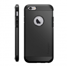Чехол-накладка SGP Spigen Slim Armor для iPhone 6/6S, чёрный, фото 1