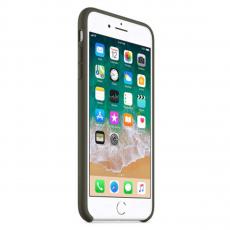Чехол Apple силиконовый для iPhone 8 Plus/7 Plus, темно-оливковый, фото 1