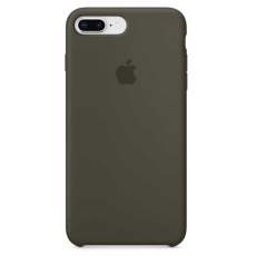 Чехол Apple силиконовый для iPhone 8 Plus/7 Plus, темно-оливковый, фото 2