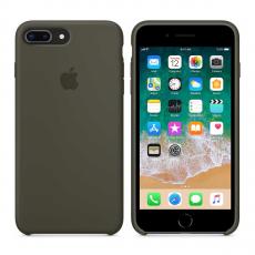 Чехол Apple силиконовый для iPhone 8 Plus/7 Plus, темно-оливковый, фото 3