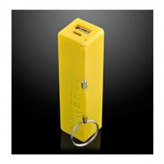 Внешний аккумулятор 7 Real, USB-A, Micro-USB, 2600 mAh, жёлтый, фото 1