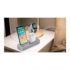 Док-станция COTEetCI Base19 Dock 3 в 1 для Apple Watch / iPhone и AirPods, серый, фото 3