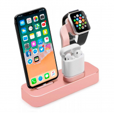 "Док-станция COTEetCI Base19 Dock для Apple Watch / iPhone и AirPods, ""розовое золото"", фото 1"