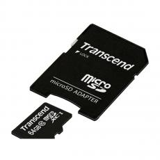 Карта памяти с адаптером Transcend Premium, Micro-SDXC, 64 ГБ, класс 10, фото 1