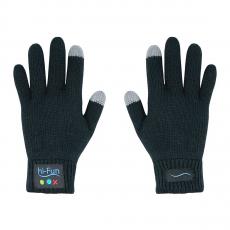 Перчатки для сенсорных экранов Hi-Call с встроенной bluetooth гарнитурой, черные, фото 1