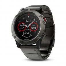 Умные-часы Garmin Fenix 5x sapphire c GPS, серые с металлическим браслетом, фото 1