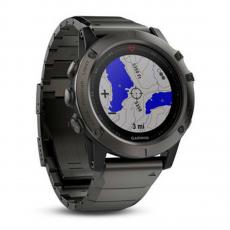 Умные-часы Garmin Fenix 5x sapphire c GPS, серые с металлическим браслетом, фото 2
