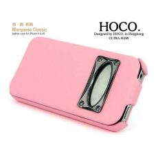 Чехол HOKO Leather Case Marquess Classik для iPhone 4S, розовый, фото 1