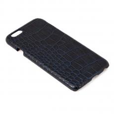 Чехол-накладка Heddy Alcantara Cover Croco для iPhone 6/6S, поликарбонат / натуральная кожа, тёмно-синий, фото 1