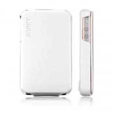 Чехол SGP Leather Case Argos Series для iPhone 4/4S, белый, фото 1