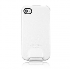 Чехол SGP Leather Case Argos Series для iPhone 4/4S, белый, фото 2