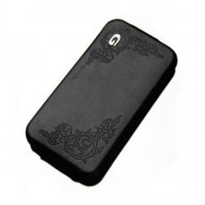 Чехол SGP Leather Case Gariz Edition Series для iPhone 4/4S, черный, фото 1