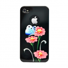 Чехол iCover Anemone для iPhone 4S/4, черный, фото 1