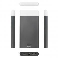 Внешний аккумулятор Power Bank Rock Light Stone, 2 USB-A, 8000 mAh, чёрный, фото 2