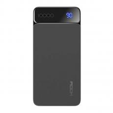 Внешний аккумулятор Rock P38 LED, USB-А, Micro-USB, USB-А, 10000 mAh, тёмно-серый, фото 1