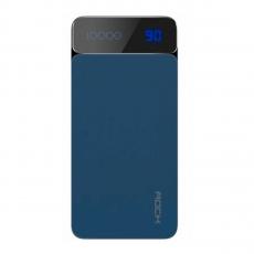 Внешний аккумулятор Rock P38 LED, USB-А, Micro-USB, USB-А, 10000 mAh, синий, фото 1