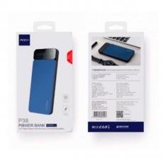 Внешний аккумулятор Rock P38 LED, USB-А, Micro-USB, USB-А, 10000 mAh, синий, фото 3