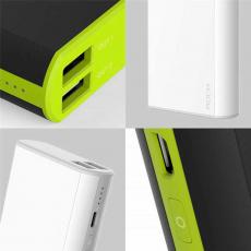 Внешний аккумулятор Power Bank Rock Cola, 2 USB-A, 10000 mAh, белый, фото 3