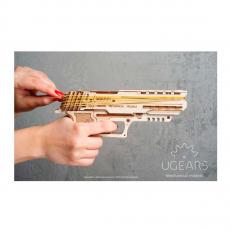 """Деревянный 3D-конструктор Ugears """"Пистолет Вольф-01"""", фото 2"""